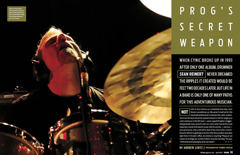 Sean Reinert Drum! Magazine Article