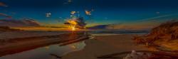 Lake Michigan Pano Sunset-1