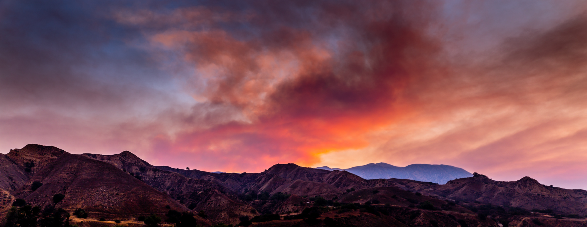 Sand Canyon Wildfire Pano-1