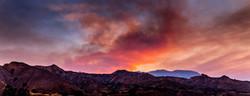 Sand Canyon Wildfire Pano-1