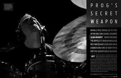 Sean Reinert Cynic Drummer Drum! Magazine