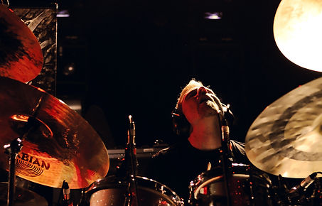 Sean Reinert performing live with CYNIC