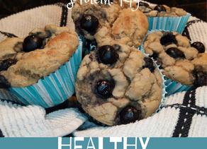 Healthy Blueberry Muffins - Low Fat, High Protein!