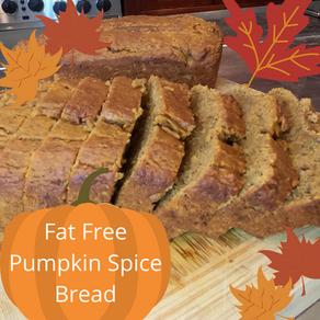 Vegan Pumpkin Spice Bread - Fat Free!