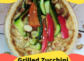 Grilled Zucchini & Hummus Wrap