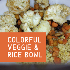 Colorful Veggie & Rice Bowl