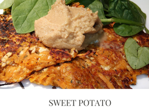 Sweet Potato Hash Browns with Protein!