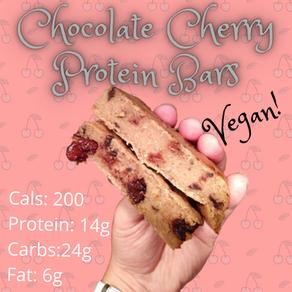 Chocolate Cherry Protein Bars