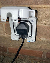 Outdoor socket installation by qualified electrician in the west midlands