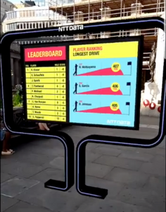 The AR experience outside The Royal Exchange