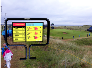 The AR experience on course at Portrush