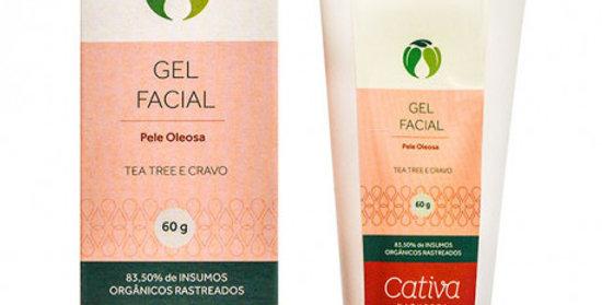 Gel Facial Pele Oleosa Orgânico Natural Vegano