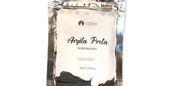 Máscara de Argila Preta Facial Natural Vegana