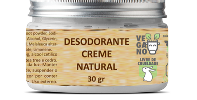 Dedodorante Creme Natural 30g  BHAVA