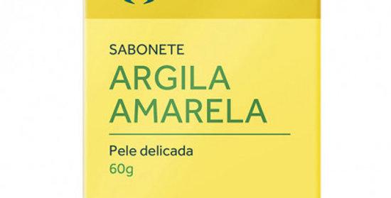 Sabonete de Argila Amarela para Pele Delicada Orgânico Natural Vegano