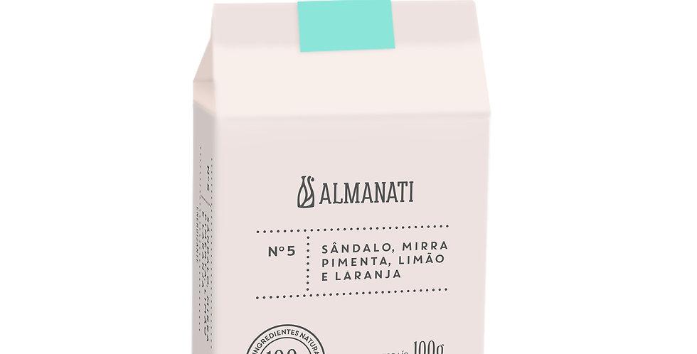 Sabonete em Barra Sândalo,Mirra,Pimenta, Limão e Laranja 100G Almanati