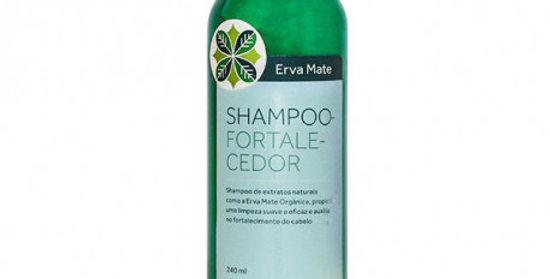 Shampoo Fortalecedor Erva Mate com Guanxuma e Gengibre Orgânico Natural Vegano