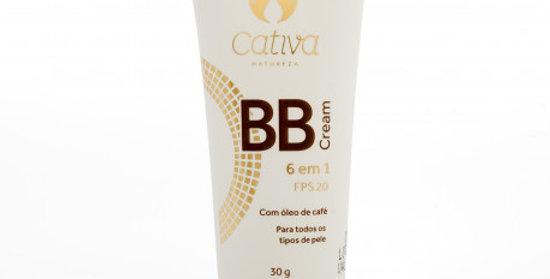 BB Cream 6 em 1 Orgânico Natural Vegano FPS 20 - 30ml