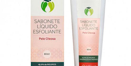 Sabonete Líquido Facial Esfoliante Pele Oleosa Orgânico Natural Vegano