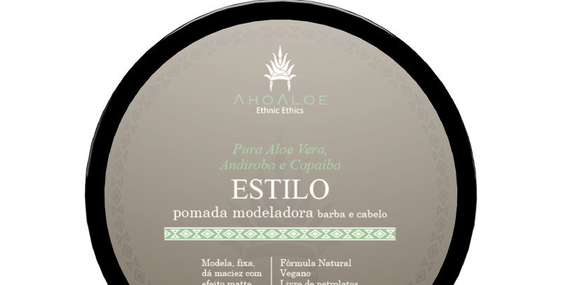 Pomada modeladora ESTILO  AhoAloe - 120g