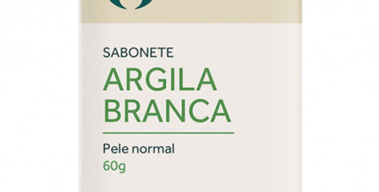 Sabonete Argila Branca para Pele Normal Orgânico Natural Vegano