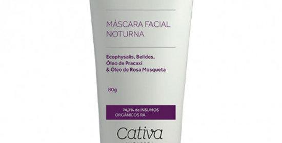 Mascara Noturna Facial Flor da Noite Natural Orgânica Vegana