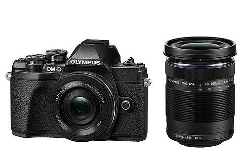 OLYMPUS OM-D E-M10 Mark III Mirrorless Digital Camera (EZ Double Zoom Kit)