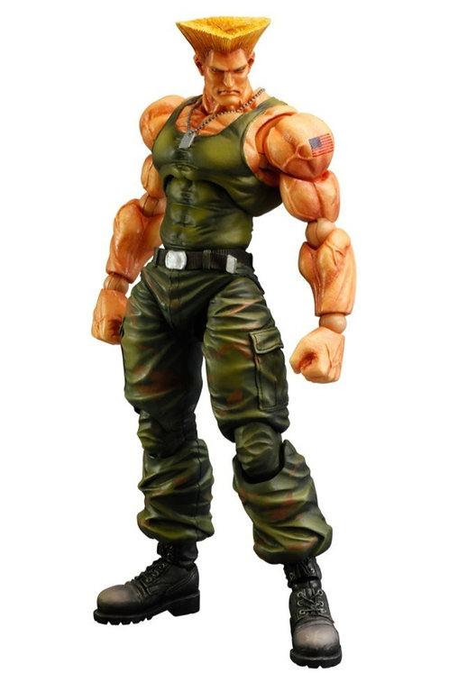 Guile Play Arts Kai Action Figurine