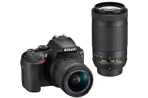 Nikon D5600 Digital SLR Camera Double Zoom Lens Kit (Black)