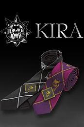 """Diamond is Unbreakable"" Kira Yoshikage Bandai Necktie (Black and Purple)"