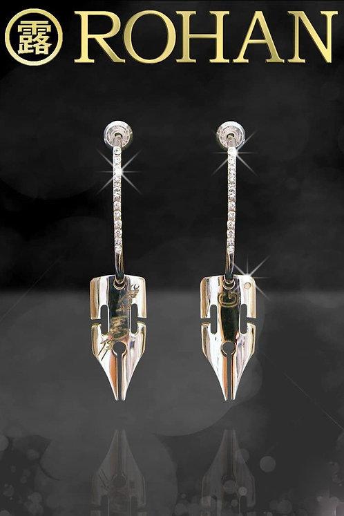 """""""Diamond is Unbreakable"""" Rohan Kishibe G-Pen Earrings"""