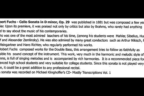 Robert Fuchs - Cello Sonata in D minor, Op. 29