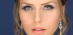 אישה באיפור יפה ומקצועי