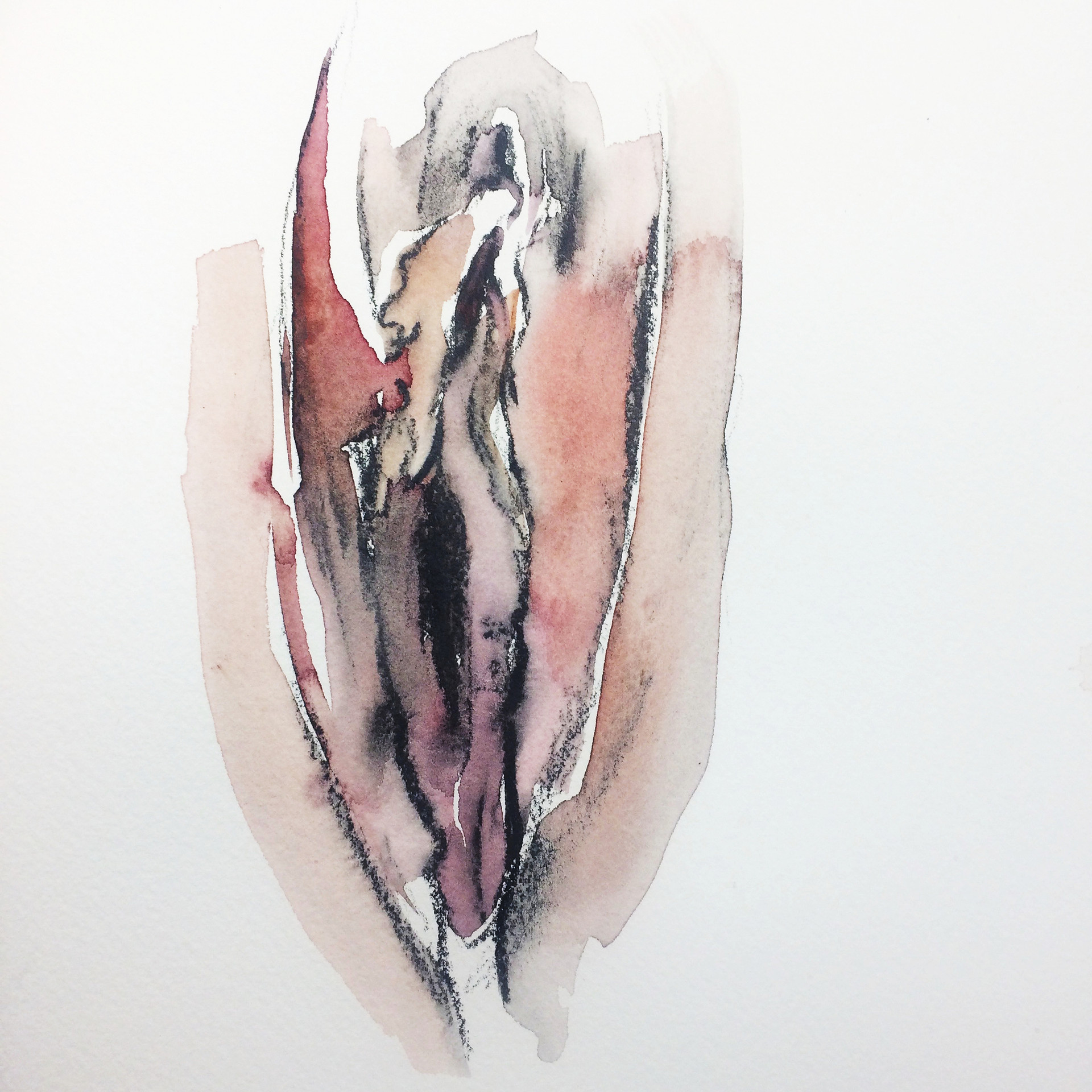 Untitled 1 Watercolor Soluble Graphite and Watercolor  2018