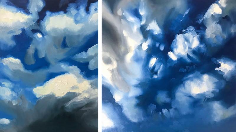 Summer Sky 1 & 2 Oil on Canvas 2020