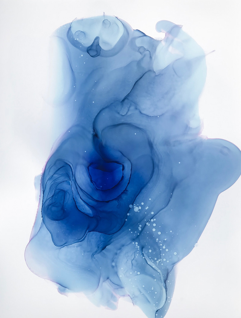 Womb Water 2 Alcohol Ink on Polypropylene Paper 2019