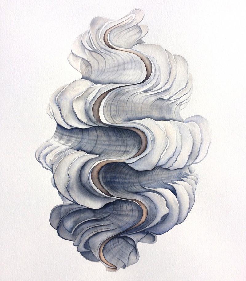 Yoni/Tridacna Squamosa Watercolor 2018