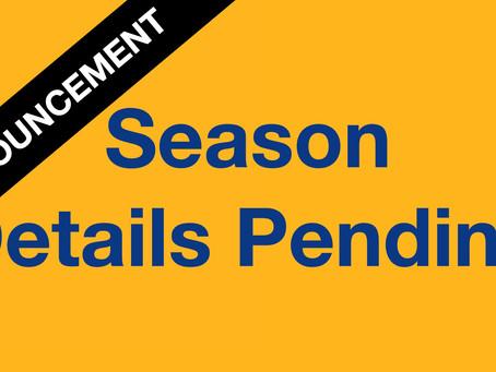 Season Details Pending - letter from BFQ Secretary