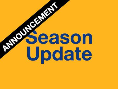 Season 2021 Update