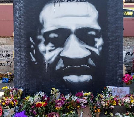 george floyd mural PEYTON SCOTT RUSSELL.