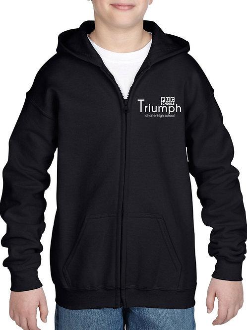 TCHS Zipper Hooded Sweatshirt