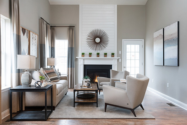 TH Properties Blog  I  Family Room with Fireplace