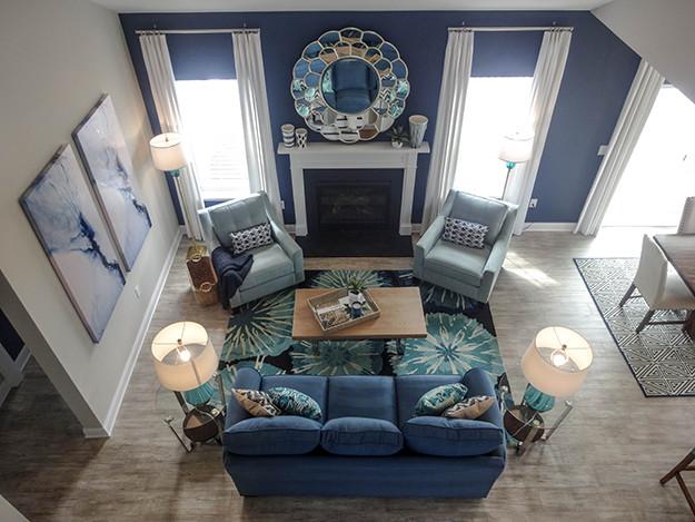 TH Properties Blog  I  Navy Blue Family Room