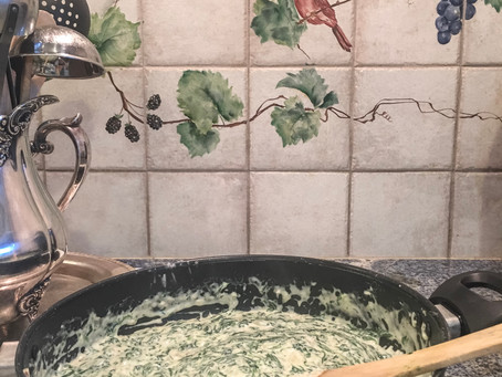 Easy One Pot Creamed Spinach