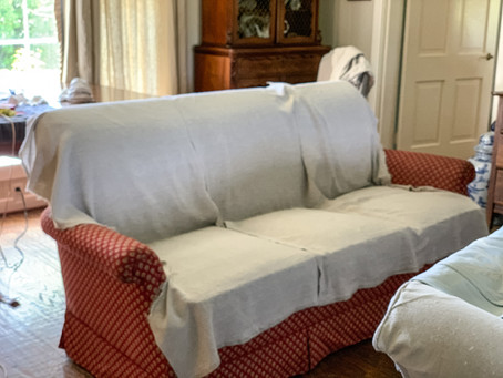 One-Piece Sofa Slipcover Tutorial:  Part 1