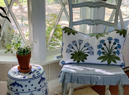 Rush Seat Slipcover With Knife Pleated Skirt Tutorial Part 1