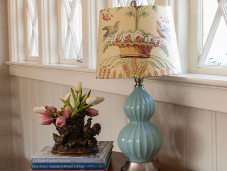Lampshade Makeover with Wallpaper