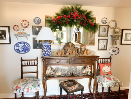 Christmas Home Tour 2020:  Breezeway, Entry Hall, Powder Room, and Outdoors