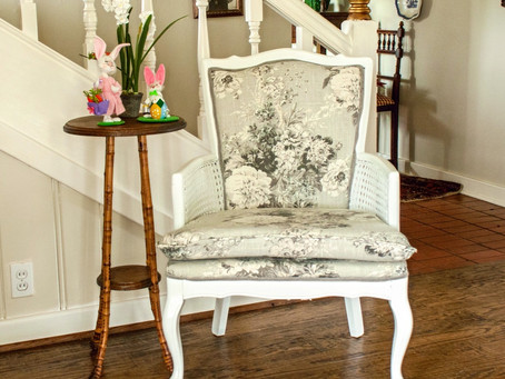 Reupholstering an Arm Chair Tutorial Part 4:  Recovering the Seat Cushion and Finishing Touches