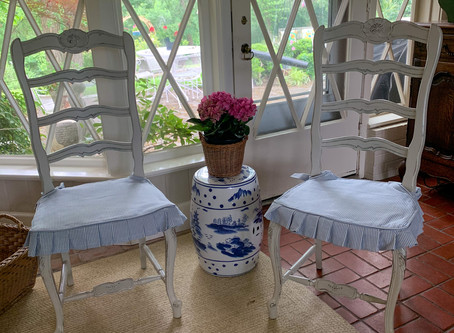 Rush Seat Slipcover With Knife Pleated Skirt Tutorial Part 2
